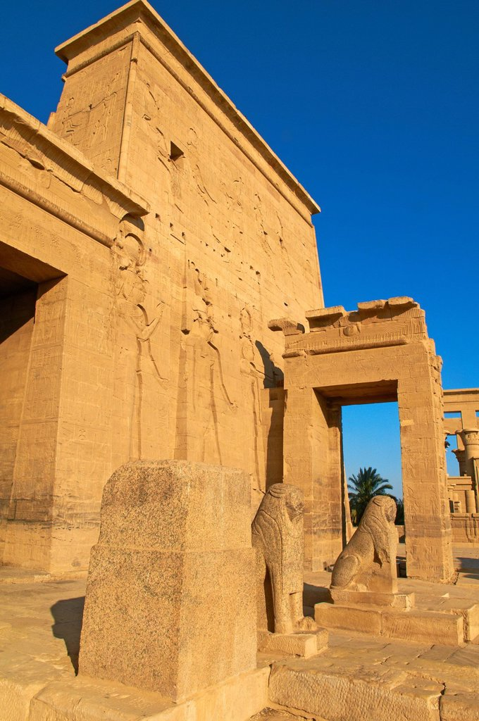 Stock Photo: 1890-129395 Temple of Philae, UNESCO World Heritage Site, Agilkia Island, Nile Valley, Nubia, Egypt, North Africa, Africa