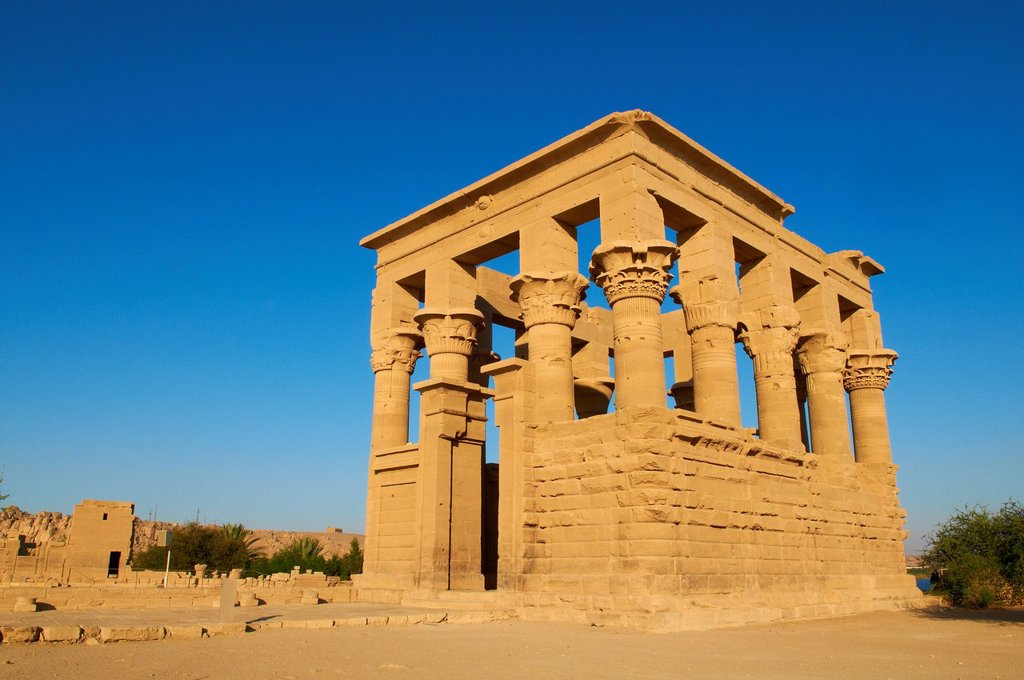 Stock Photo: 1890-129396 Temple of Philae, UNESCO World Heritage Site, Agilkia Island, Nile Valley, Nubia, Egypt, North Africa, Africa