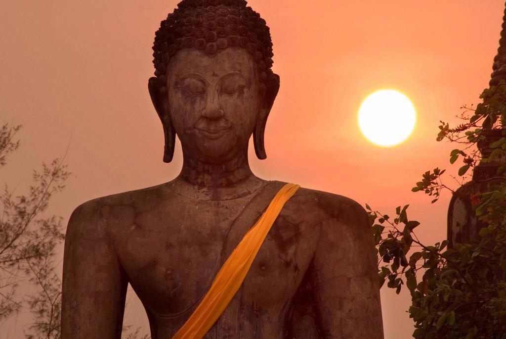Wat Mahathat, Sukhothai Historical Park, UNESCO World Heritage Site, Sukhothai Province, Thailand, Southeast Asia, Asia : Stock Photo