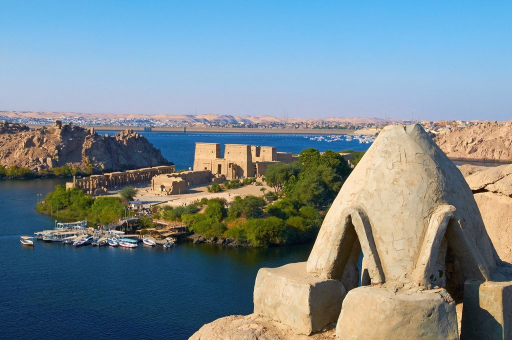 Stock Photo: 1890-129688 Temple of Philae, UNESCO World Heritage Site, Agilkia Island, Nile Valley, Nubia, Egypt, North Africa, Africa