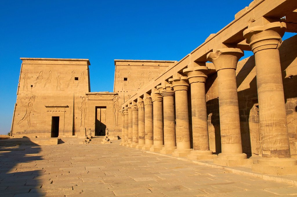 Stock Photo: 1890-129689 Temple of Philae, UNESCO World Heritage Site, Agilkia Island, Nile Valley, Nubia, Egypt, North Africa, Africa