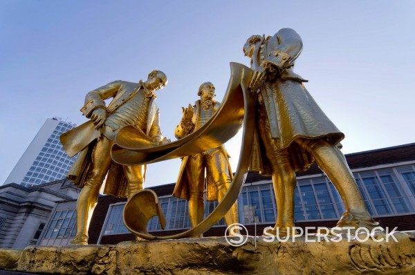 Stock Photo: 1890-129814 Boulton Statue, Birmingham, Midlands, England, United Kingdom, Europe