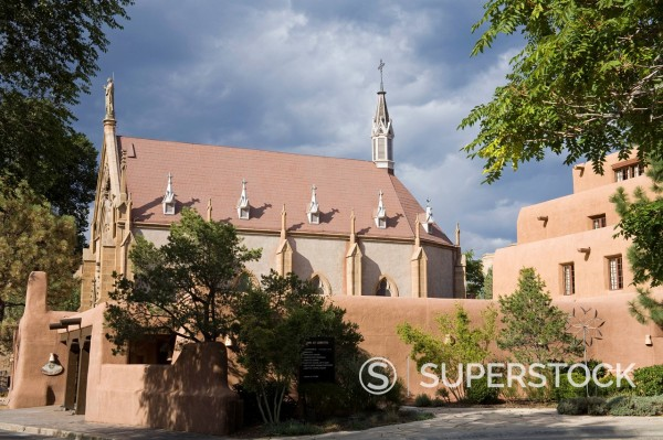 Stock Photo: 1890-129988 Loretto Chapel in Santa Fe, New Mexico, United States of America, North America