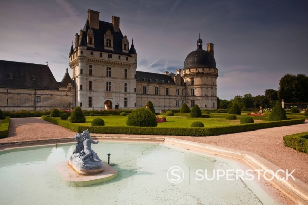 Chateau de Valencay, Valencay, Indre, Loire Valley, France, Europe : Stock Photo
