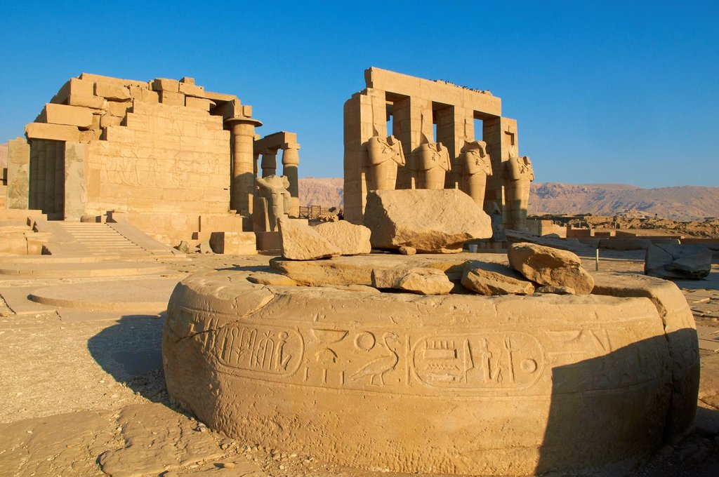 Stock Photo: 1890-131245 Ramesseum Temple, West Bank of the River Nile, Thebes, UNESCO World Heritage Site, Egypt, North Africa, Africa