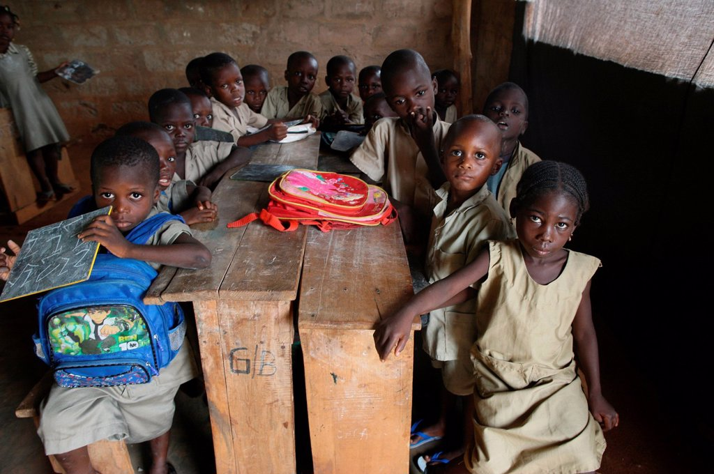 Stock Photo: 1890-131288 Primary school in Africa, Hevie, Benin, West Africa, Africa