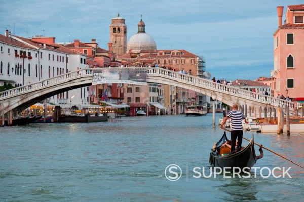 Stock Photo: 1890-131550 View of the Grand Canal in front of the train station from a public waterbus, Venice, UNESCO World Heritage Site, Veneto, Italy, Europe