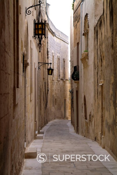 Stock Photo: 1890-131716 Old town of Mdina, Malta, Mediterranean, Europe