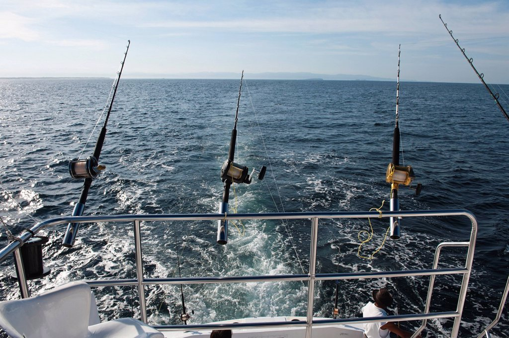 Stock Photo: 1890-132103 Deep_sea sports_fishing, Puerto Vallarta, Jalisco, Mexico, North America