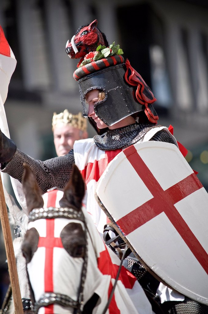 Stock Photo: 1890-132934 St. George´s Day Celebrations in 2010, London, England, United Kingdom, Europe
