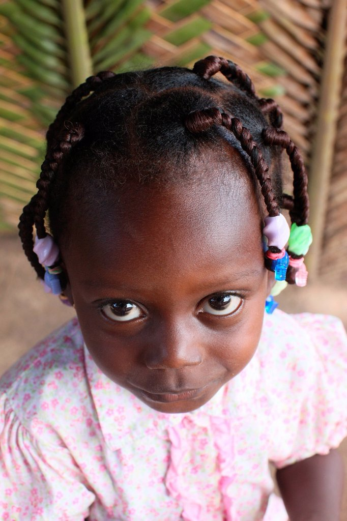 Stock Photo: 1890-132967 African girl, Lome, Togo, West Africa, Africa