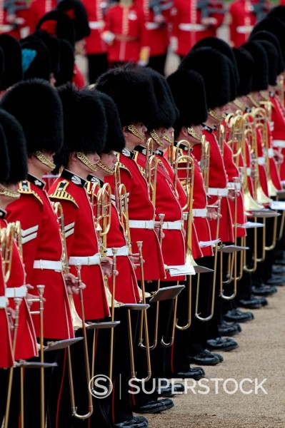 Stock Photo: 1890-133270 Soldiers at Trooping the Colour 2012, The Queen´s Birthday Parade, Horse Guards, Whitehall, London, England, United Kingdom, Europe