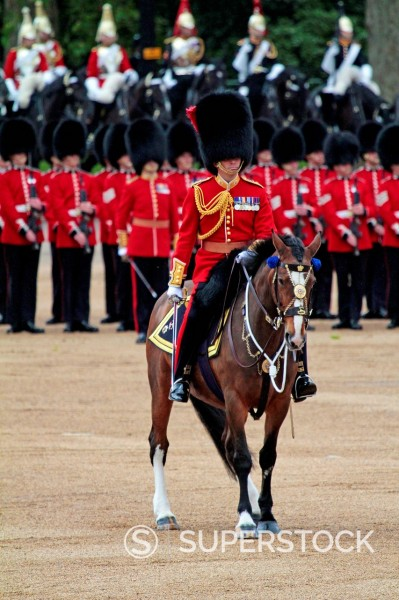 Soldiers at Trooping the Colour 2012, The Queen´s Birthday Parade, Horse Guards, Whitehall, London, England, United Kingdom, Europe : Stock Photo