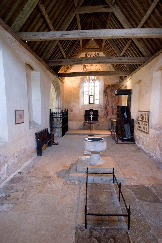 Inside the chapel of the 14th century Farleigh Hungerford Castle, Somerset, England, United Kingdom, Europe : Stock Photo