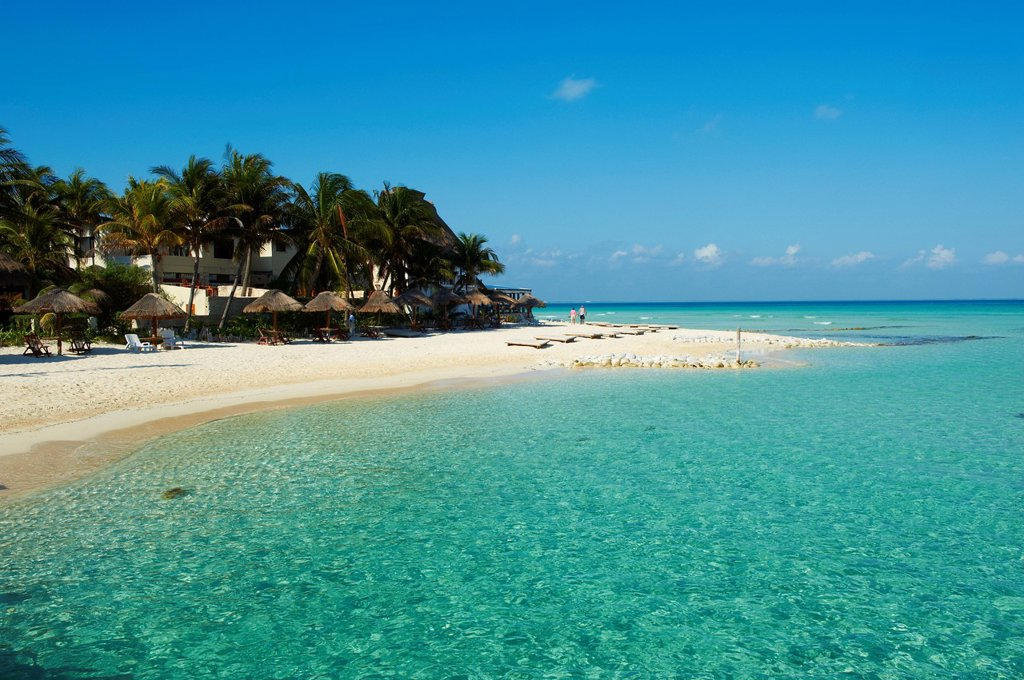 Stock Photo: 1890-133878 Playa Norte beach, Isla Mujeres Island, Riviera Maya, Quintana Roo, Mexico, North America