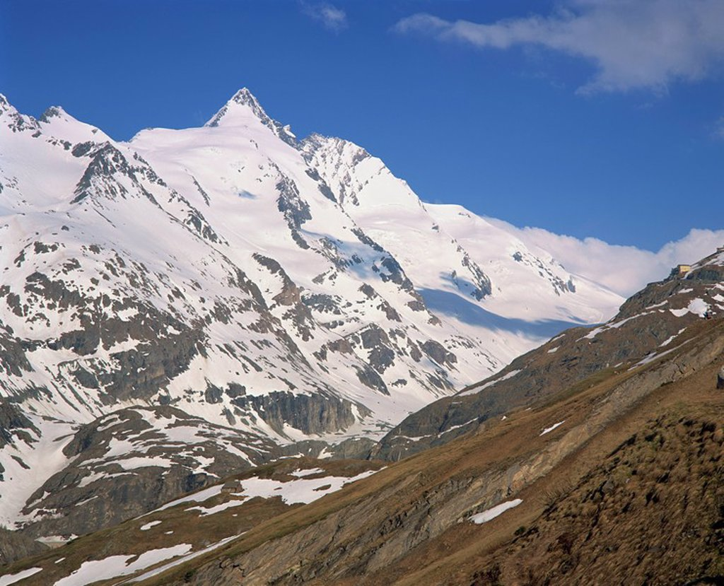 Stock Photo: 1890-13388 Hohe Tauren National Park region, Grossglockner, 3797m, Austria, Europe