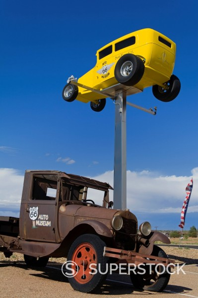 Stock Photo: 1890-134619 Route 66 Auto Museum in Santa Rosa, New Mexico, United States of America, North America