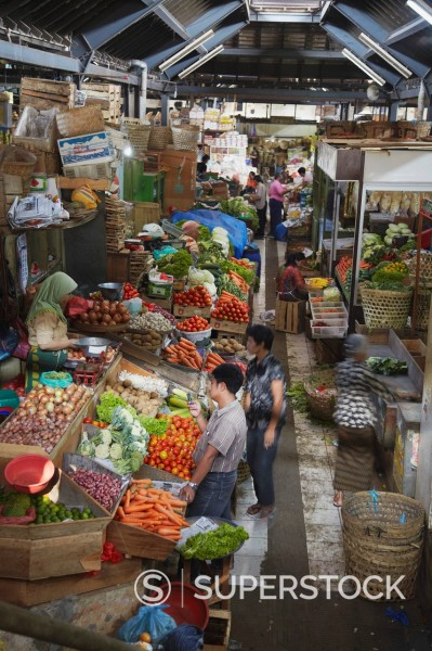 Pasar Gede market, Solo, Java, Indonesia, Southeast Asia, Asia : Stock Photo
