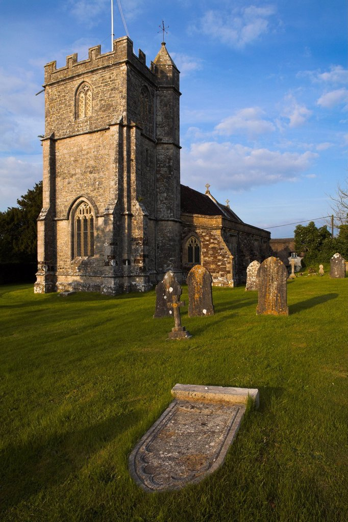 Stock Photo: 1890-134928 Church in the Dorset village of Wool, Dorset, England, United Kingdom, Europe