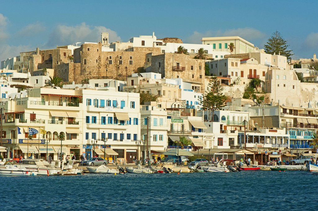 The Chora Hora, Naxos, Cyclades Islands, Greek Islands, Aegean Sea, Greece, Europe : Stock Photo