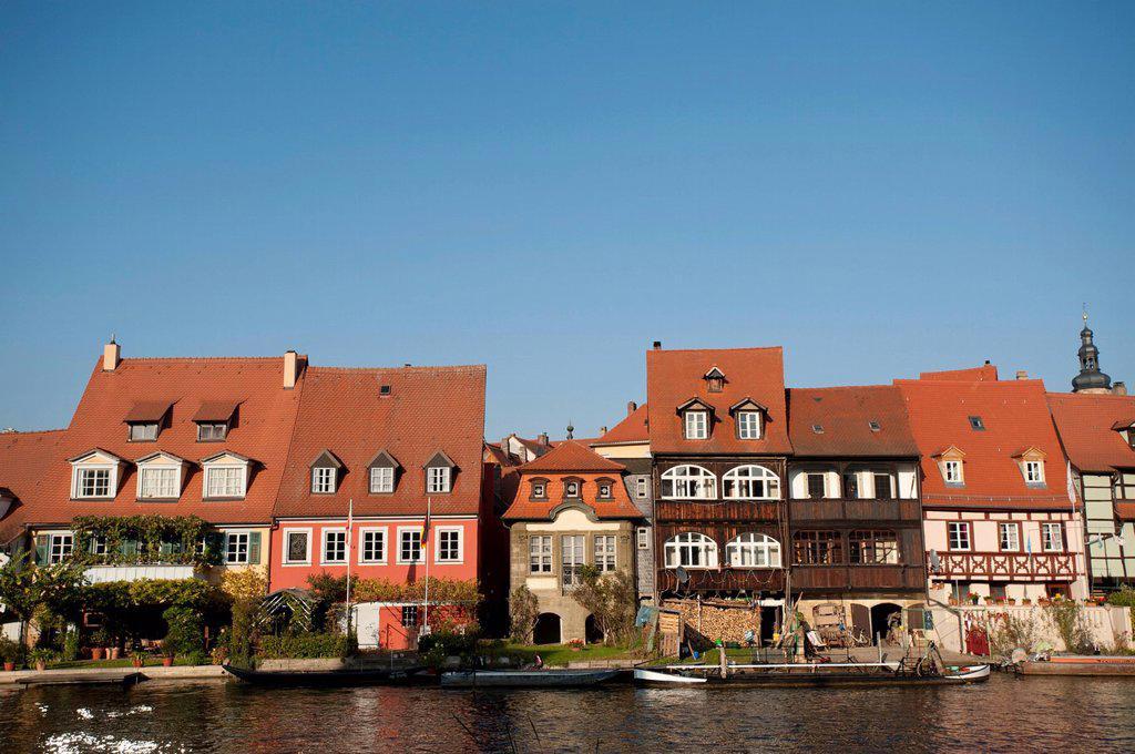 Klein_Venedig Little Venice, Bamberg, UNESCO World Heritage Site, Bavaria, Germany, Europe : Stock Photo