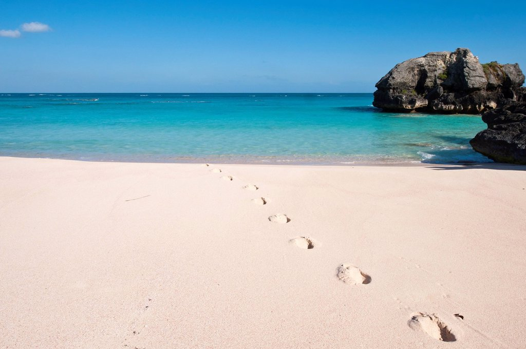 Warwick Long Bay, Jobson´s Cove, Bermuda, Central America : Stock Photo