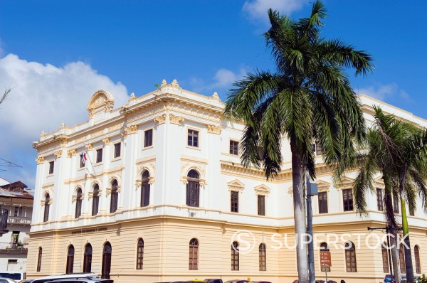 Ministry of Government and Justice building, historical old town, UNESCO World Heritage Site, Panama City, Panama, Central America : Stock Photo