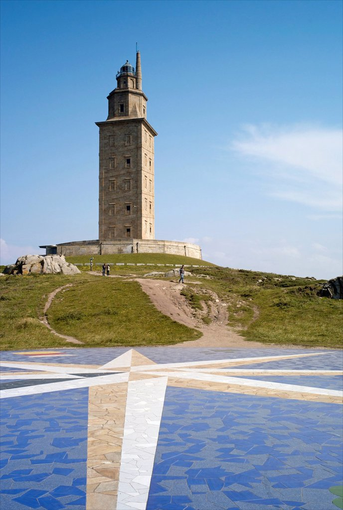 Stock Photo: 1890-137180 Tower of Hercules Torre de Hercules, A Coruna, Galicia, Spain, Europe