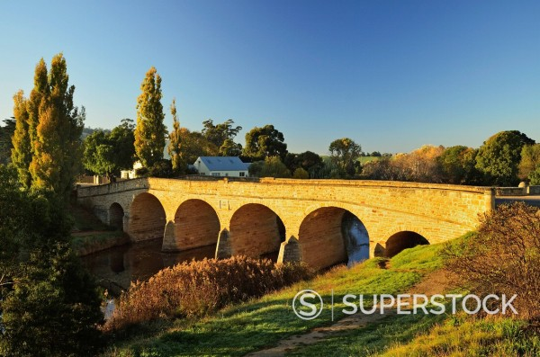 Stock Photo: 1890-137527 Richmond Bridge, Australia´s oldest road bridge, Richmond, Tasmania, Australia, Pacific