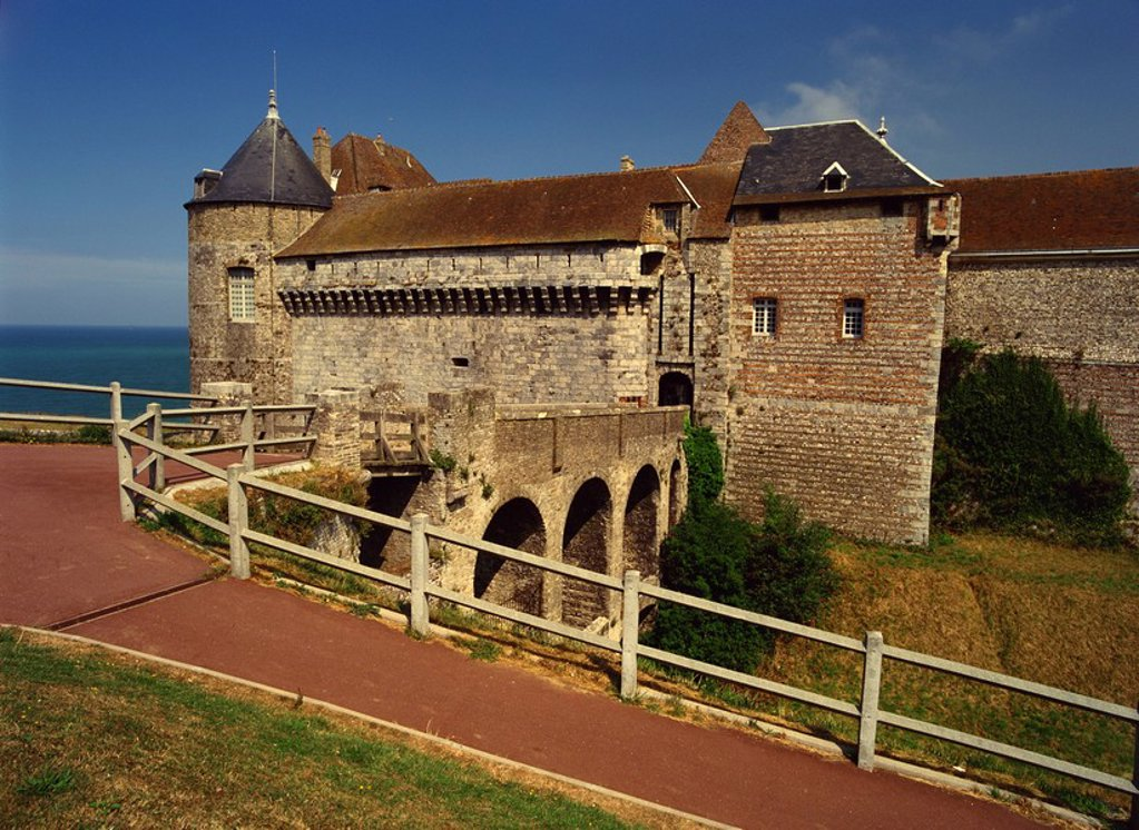 Chateau, Dieppe, Seine_Maritime, Haute Normandie, France, Europe : Stock Photo