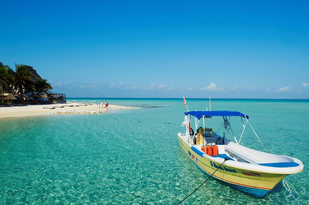 Stock Photo: 1890-137610 Playa Norte beach, Isla Mujeres Island, Riviera Maya, Quintana Roo state, Mexico, North America