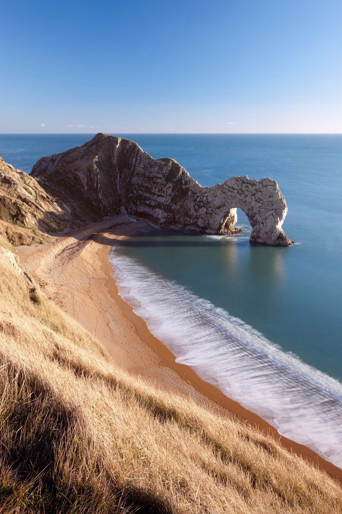 Stock Photo: 1890-138023 Durdle Door on a beautiful sunny day, Jurassic Coast, UNESCO World Heritage Site, Dorset, England, United Kingdom, Europe