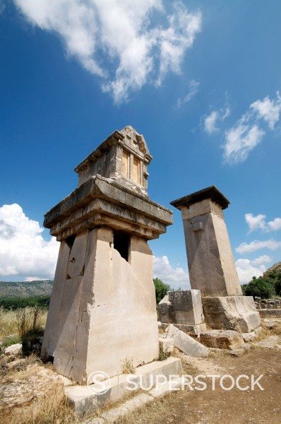 Stock Photo: 1890-140299 The Harpy Monument, a sarcophagus at the Lycian site of Xanthos, UNESCO World Heritage Site, Antalya Province, Anatolia, Turkey, Asia Minor, Eurasia