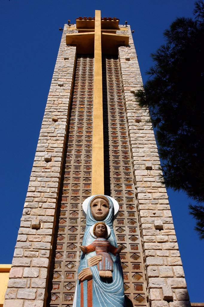 Notre_Dame de Consolation church designed by Raymond Vaillant, Hyeres, Var, Provence, France, Europe : Stock Photo