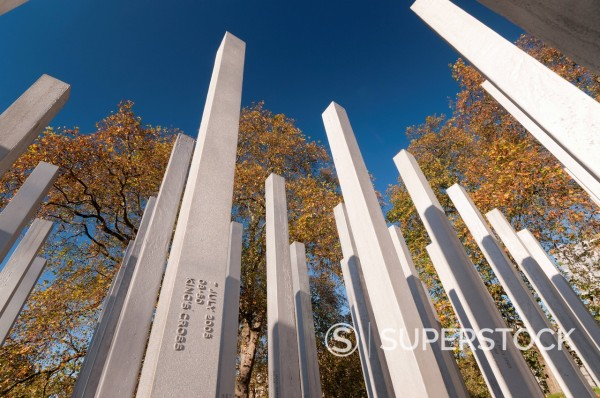 The 7th July Memorial to victims of the 2005 bombings, Hyde Park, London, England, United Kingdom, Europe : Stock Photo