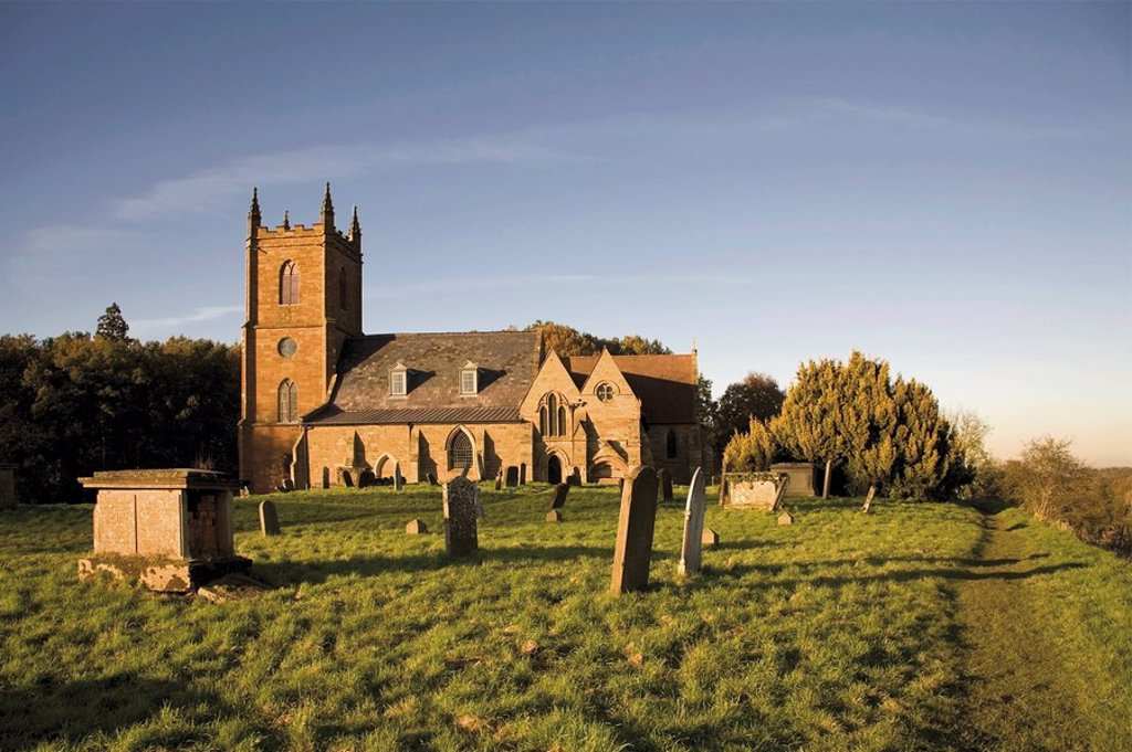 Stock Photo: 1890-14211 Church of St. Mary the Virgin, location of St. Stephen´s church, Ambridge in the radio serial The Archers, Hanbury, Worcestershire, Midlands, England, United Kingdom, Europe