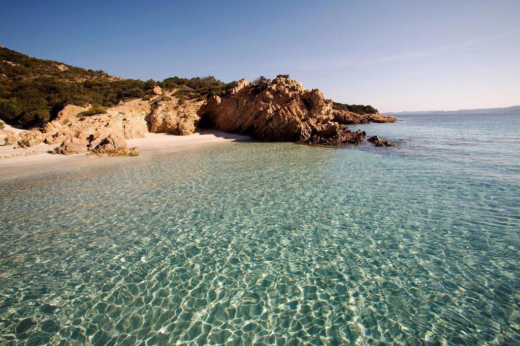 The island of Spargi, Maddalena Islands, La Maddalena National Park, Sardinia, Italy, Mediterranean, Europe : Stock Photo