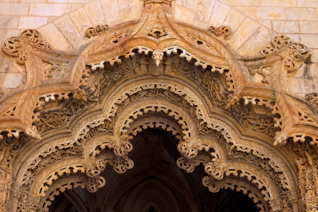 Unfinished chapels, Santa Maria da Vitoria Monastery, UNESCO World Heritage Site, Batalha, Portugal, Europe : Stock Photo