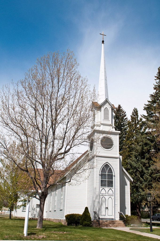 Stock Photo: 1890-143607 Historic St. Peter´s Episcopal Church, Carson City, Nevada, United States of America, North America