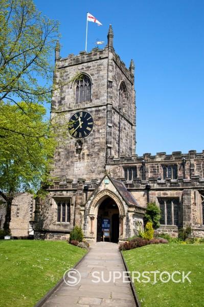 Holy Trinity Parish Church, Skipton, North Yorkshire, Yorkshire, England, United Kingdom, Europe : Stock Photo