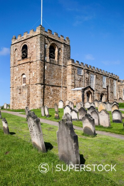 St. Mary´s Parish Church at Whitby, North Yorkshire, Yorkshire, England, United Kingdom, Europe : Stock Photo