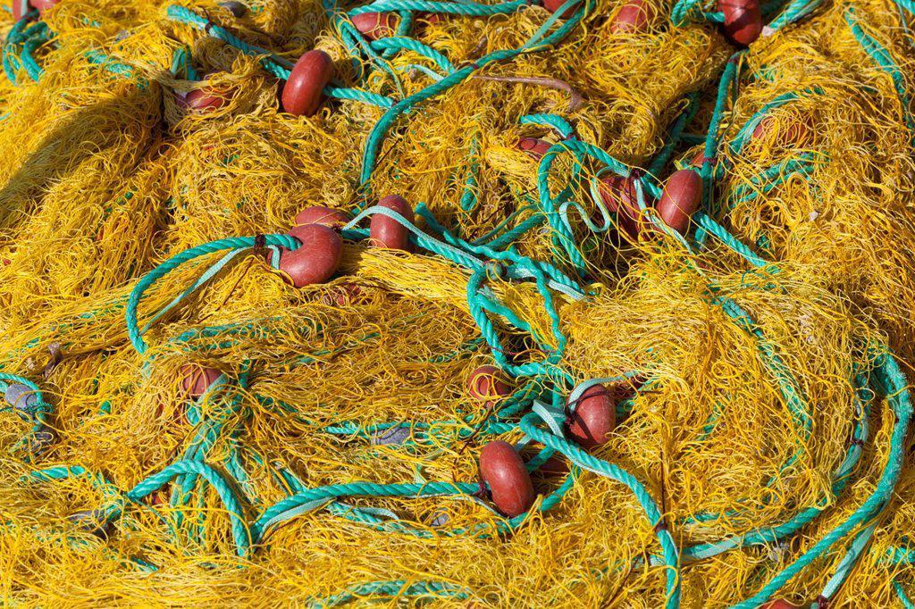 Stock Photo: 1890-144007 Fishing nets, Ormos Marathokampos, Samos, Aegean Islands, Greece