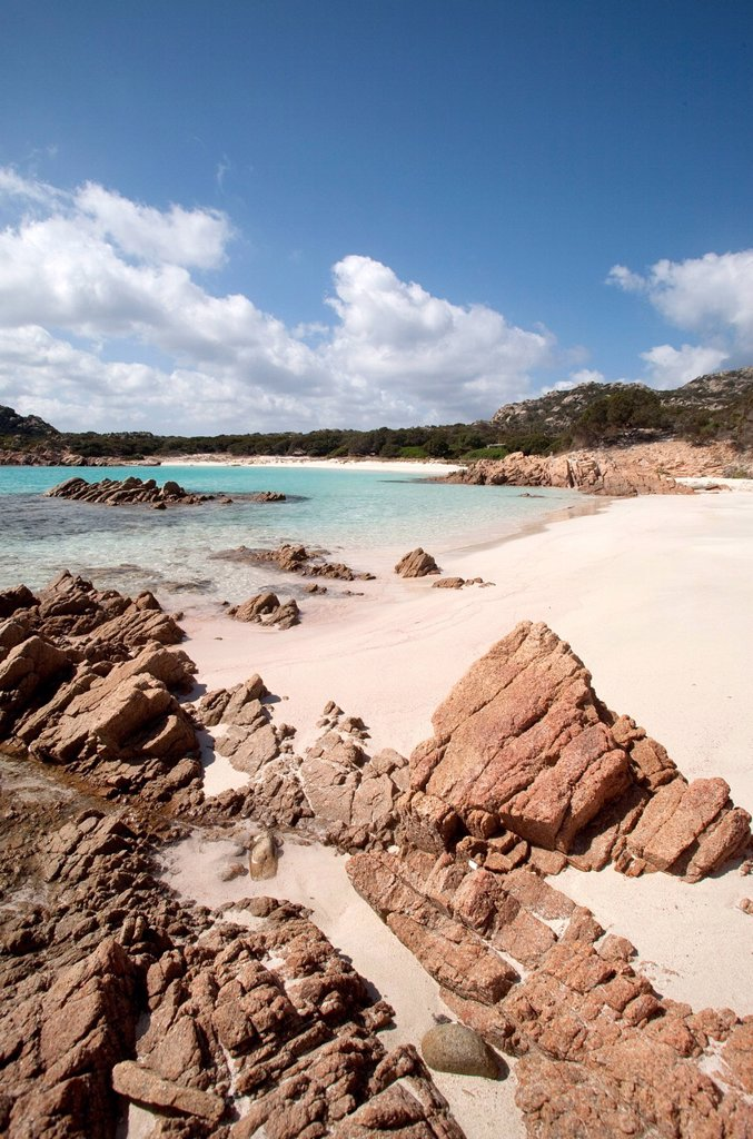 Stock Photo: 1890-144252 Spiaggia Rosa Pink Beach on the island of Budelli, Maddalena Islands, La Maddalena National Park, Sardinia, Italy, Mediterranean, Europe