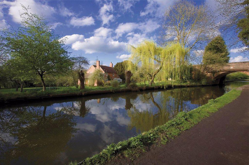 Kingswood junction, Stratford_upon_Avon Canal, Lapworth, Warwickshire, England, United Kingdom, Europe : Stock Photo