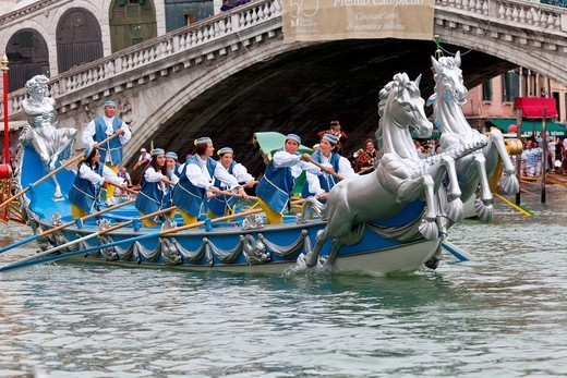 Regata Storica 2012, Venice, UNESCO World Heritage Site, Veneto, Italy, Europe : Stock Photo