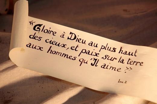 Bible verse, Paris, France, Europe : Stock Photo