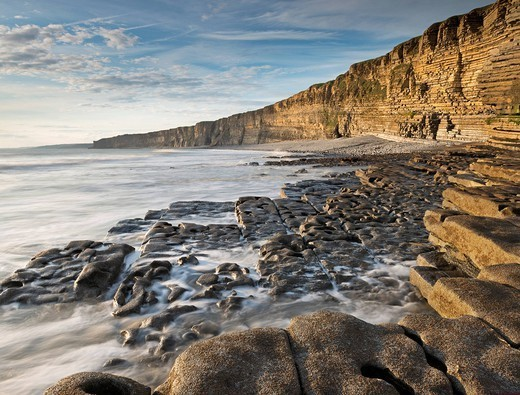 Nash Point on the Glamorgan Heritage Coast, South Wales, Wales, United Kingdom, Europe : Stock Photo