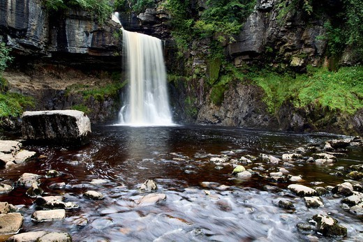 Stock Photo: 1890-148217 Thornton Force near Ingleton, Yorkshire Dales, North Yorkshire, Yorkshire, England, United Kingdom, Europe