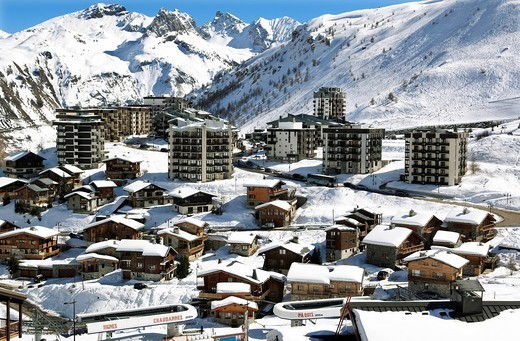 Tignes_le_Lac, Tignes, Savoie, Rhone_Alpes, French Alps, France, Europe : Stock Photo