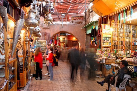 Medina, Marrakech, Morocco, North Africa, Africa : Stock Photo